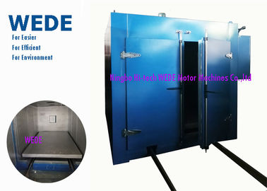 China Double Doors Electric Powder Coating Oven , Trolley Style Resin Coating Machine supplier