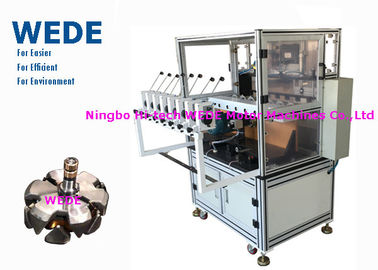 China Bobbin Coil Automatic Transformer Coil Winding Machine With 8 Heads HMI Display supplier
